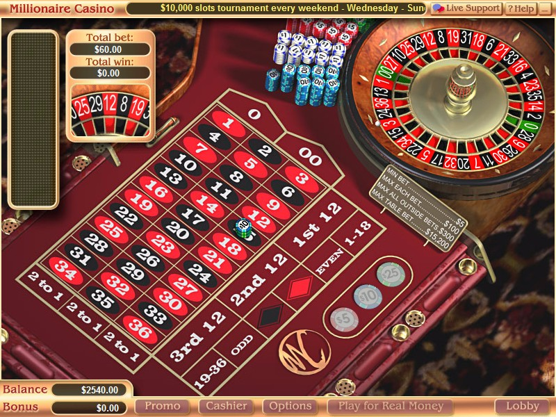 Millionaire from roulette